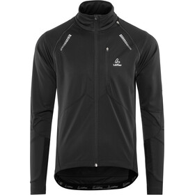 Löffler San Remo Windstopper Softshell Bike Zip-Off Jacket Men black/grey melé